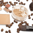 Cosmetics beige shades - Stock Photo