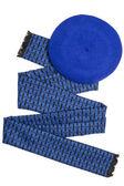 Dark blue female scarf and beret — Stock Photo