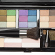 Stock Photo: Professional makeup palette and brushes