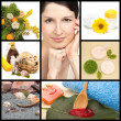 Spa and natural cosmetics collage — Stock Photo