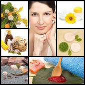 Spa y cosmética natural collage — Foto de Stock