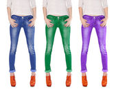 Multicolored jeans — Stock Photo