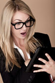 Blond affärskvinna. — Stockfoto