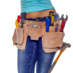 DIY woman. — Stock Photo