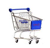 Shopping cart on white background. — Stock Photo