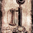 Antique telephone. — 图库照片