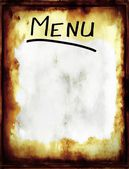 A grunge blank menu in a old retro style. — Photo