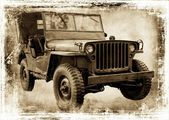 Vintage jeep. — Stock Photo