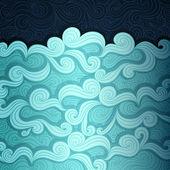 De zee-banner — Stockvector