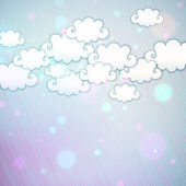 Rainbow Clouds — Stock Vector