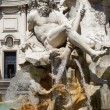 Fountain of the Four Rivers in Piazza Navona Rome — Stock Photo