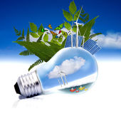 Renewable energy concept — Stock Photo