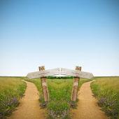 Wegen, landschap — Stockfoto