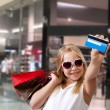 Girl shopping at the mall — Stock Photo