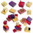 Set and gift boxes collection — Stock Photo