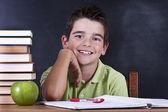 Child in the school board — Stock Photo