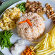 Stock Photo: Fry rice with shrimp paste, Thai food