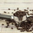 Stock Photo: Coffee Maker And Beans