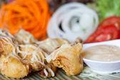 Salada de camarão frito — Foto Stock