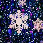 Snow on christmas light — Stock Photo #6339249