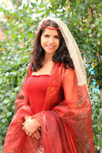 Medieval beautiful woman — Stock Photo