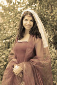 Medieval beautiful woman — Stockfoto