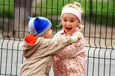 Małe dzieci śmieszne piękne — Zdjęcie stockowe