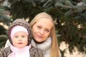 Beautiful mother with her lovely daughter — Stock Photo