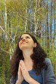 Vděčný modlit — Stock fotografie