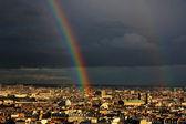 Rainbow over the Paris — Stock Photo