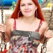 Stock Photo: Red haired young girl