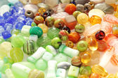 Variety of colorful beads — Stock Photo