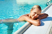 Attractive woman in the water — Stock Photo