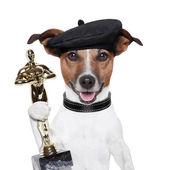 Perro ganador premio — Foto de Stock