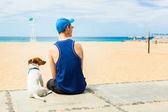 Hond en eigenaar — Stockfoto