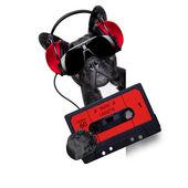 Dog music cassette — Stock Photo