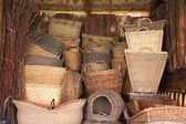The wicker baskets — Stock Photo