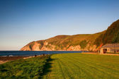 Am Strand in lynmouth — Stockfoto