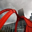 "The red artwork is named ""the Red Spider"" — Lizenzfreies Foto"