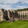 Stock Photo: Scenic view of ruins of Rievaulx Abbey