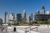 New skyscrapers in Dubai marina — Stock Photo