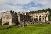 Schilderachtig uitzicht op de ruïnes van de abdij van rievaulx — Stockfoto