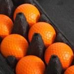 The orange golf balls — Stock Photo #19545185