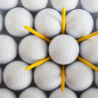 White golf balls — Stock Photo #19744799