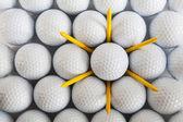 White golf balls — Stock Photo