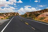On the road in Arizona — Stock Photo
