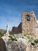 Kościół w skale w mijas w hiszpanii — Zdjęcie stockowe