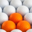 White golf balls — Foto Stock