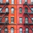 The detail of New York buildings - Foto de Stock