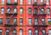 The detail of New York buildings — Stock Photo